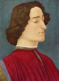 Egg tempera portrait by Botticelli