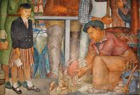 fresco WPA of Fisherman's Wharf