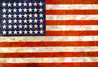 encaustic flag by Jasper Johns