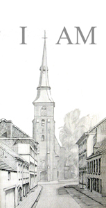 Sint AnnaKerk silverpoint with india ink