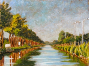 Damse Vaart Oil on panel