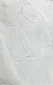 A Piece of Me #10, acrylic sculpting gel on panel