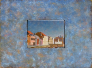 View of the Predijkherrenrij, Back, Bruges, Belgium. 2010. Oil on panel 44 x 59 cm. or 17 1/4 x 23 1/4 in.