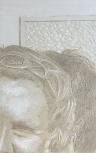 Silverpoint #05 over toned gesso ground. 13.3 x 21 cm or 5 1/4 x 8 1/2 in.